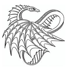 O dragão descansando