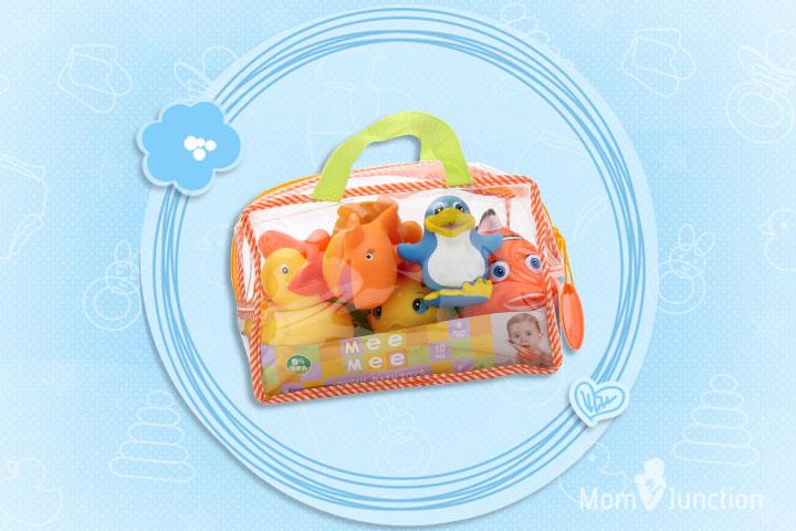 Best Baby Toys - MeeMee Bath Toys Conjunto de 10 brinquedos