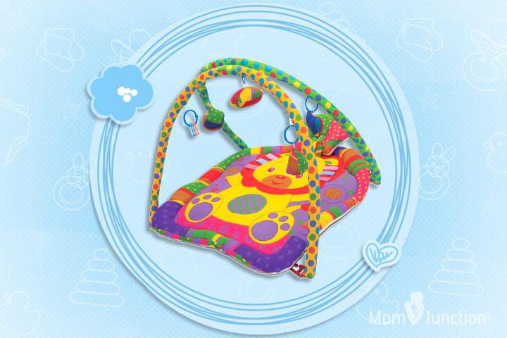 Os melhores brinquedos para bebês: Babyhug Twist N Fold Move N Play Activity Gym Lion