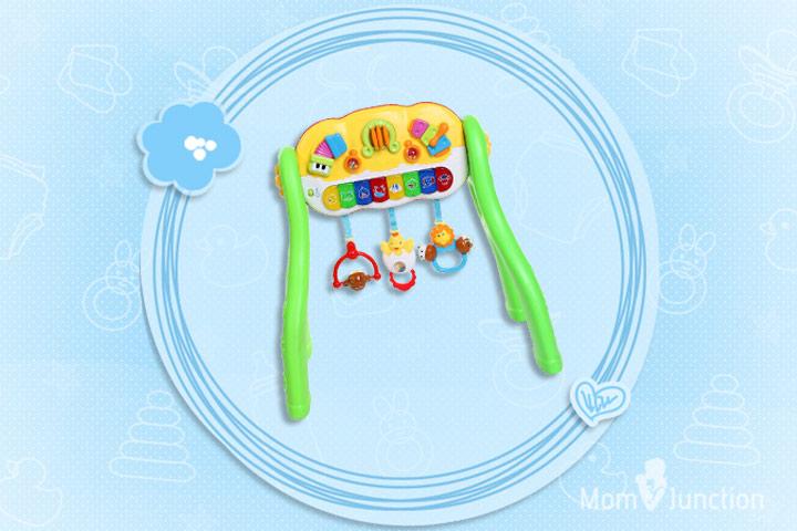 Melhores Brinquedos para Bebês: MeeMee Battery Powered 3 in 1 Fun Activity Gym