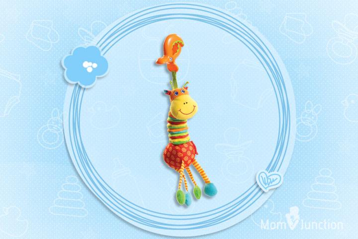 Os melhores brinquedos do bebê - Tiny Love Tiny Smarts Jitterffe Jiraffe Brinquedo macio acoplável