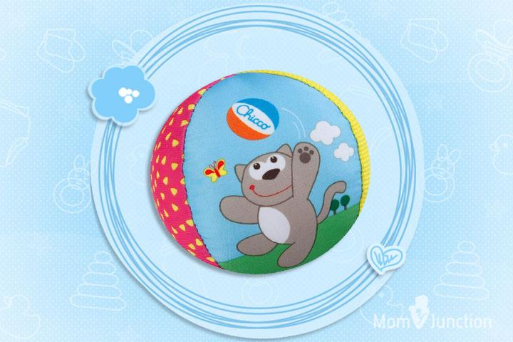 Os melhores brinquedos para bebês - Chicco Soft Ball Toy