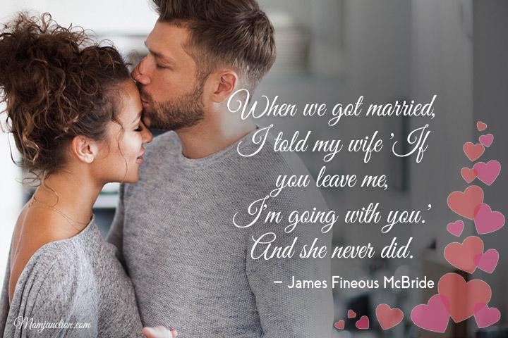 Quando nos casamos, eu disse à minha esposa: 'Se você me deixar