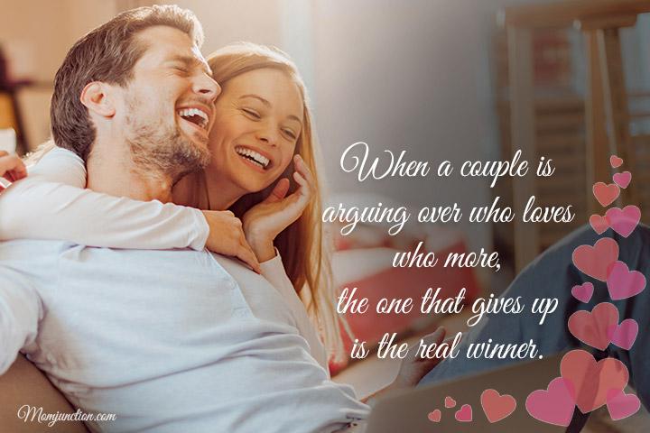 Quando um casal discute sobre quem ama quem mais