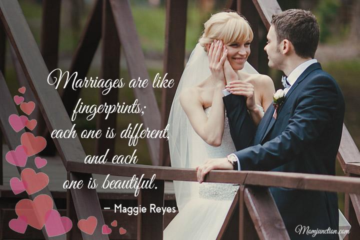 Casamentos são como impressões digitais