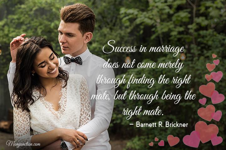 O sucesso no casamento não ocorre simplesmente por encontrar o parceiro certo