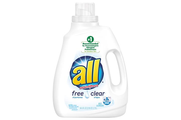 Todo o detergente líquido para a roupa