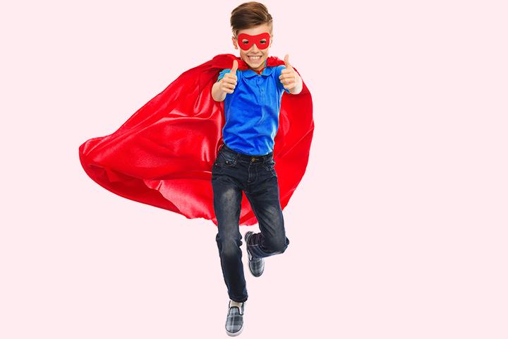 Fato de Super-homem Fato de adolescente com imagens