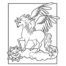 Pegasus através das nuvens