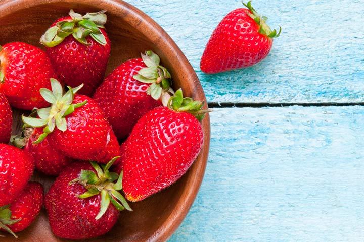 Comer frutas vermelhas dará ao seu bebê bochechas rosadas.