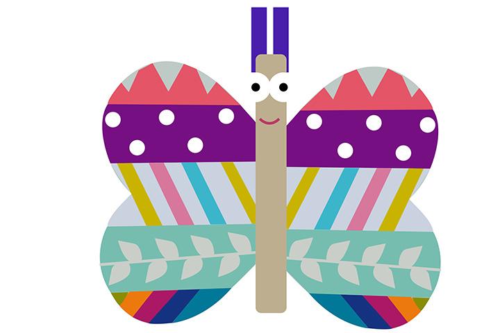 Palito de sorvete de borboleta
