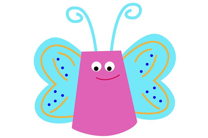 Copo de papel borboleta