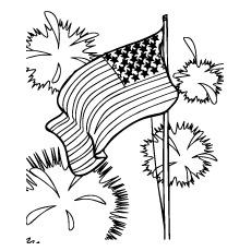Desenho de Dia da Independência dos EUA para colorir EUA Para imprimir