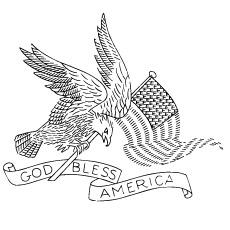 Desenhos de Deus abençoe a América para impressão em 4 de julho