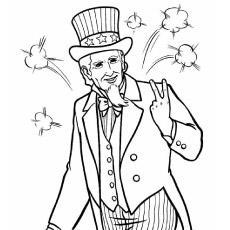 Desenho de Tio Sam em 4 de julho