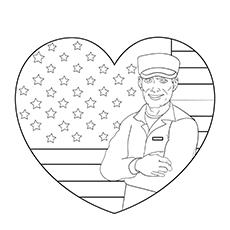 Desenhos de soldado americano para colorir para crianças