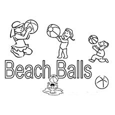 As muitas bolas de praia