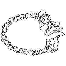 Desenho de flauta para colorir - duende tocando flauta