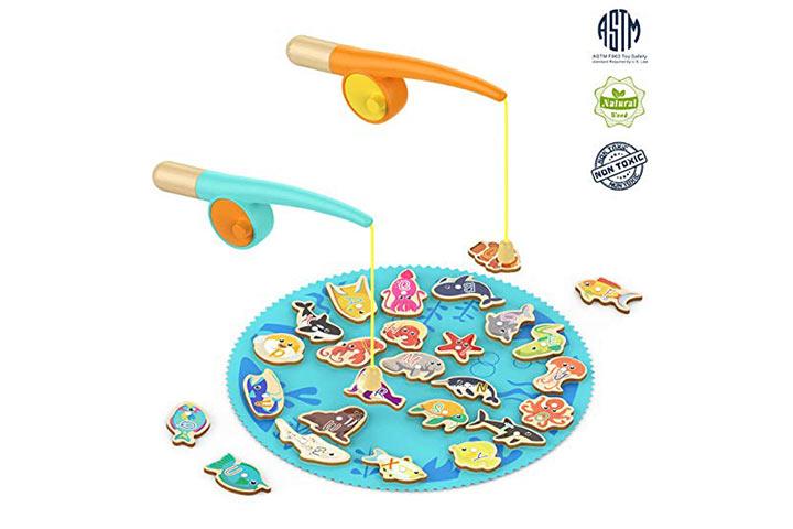 SUPERIOR BRILHANTE Presentes do jogo da pesca da criança