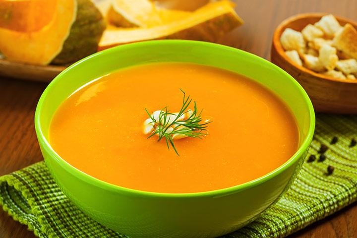Sopa de lentilha e abóbora