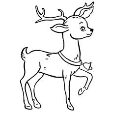 Desenhos de renas para colorir