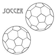 Desenho de bolas de futebol para colorir