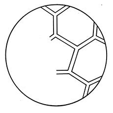Desenhos de meia bola de futebol para colorir