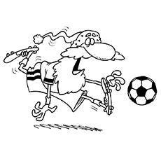 Desenhos de Santa para jogar futebol grátis