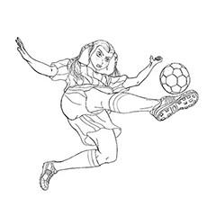 Páginas para colorir de um chute maciço de um jogador de futebol