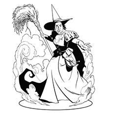 Desenhos para colorir Bruxa Oriental