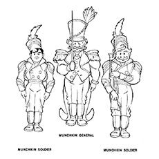 Desenho de Munchkins para colorir