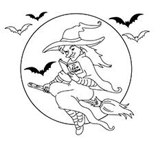 Planilhas para colorir bruxa do norte
