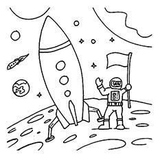 Desenho de astronauta para colorir