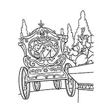 Desenhos para colorir Princesas pela carruagem