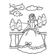 Desenhos para colorir Princesa em seus castelos grátis