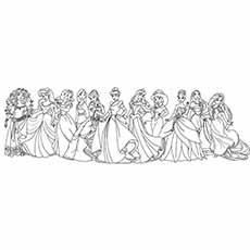 Desenhos para colorir Princesa Disney com Mérida