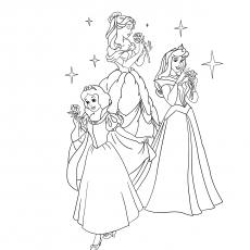 Desenhos para colorir Princesa Disney
