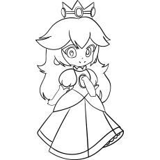 Desenhos para colorir Princesa Chibi grátis