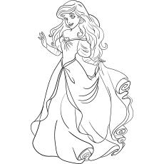 Desenhos para colorir Princesa Ariel