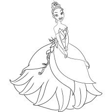 Desenho de Princesa Tiana para crianças