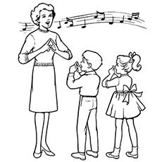 o professor de canto