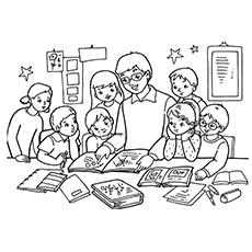 o professor de pré-escola