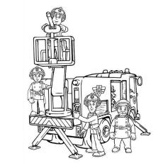 Desenho de Bombeiro Sam para colorir
