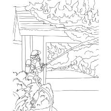 Desenhos de bombeiro grátis para colorir