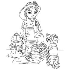 Desenhos de bombeiro para colorir grátis para crianças