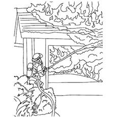 Corante extintor de incêndio