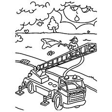 Desenhos de bombeiro de serviço