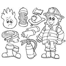 Desenhos de Firemans Objects para colorir