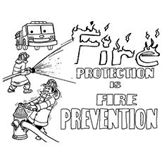 Colorir precauções de segurança contra incêndio