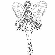 Desenhos de Barbie Princess para colorir